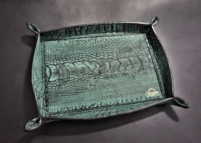 OSTRICH LEATHER TRAY